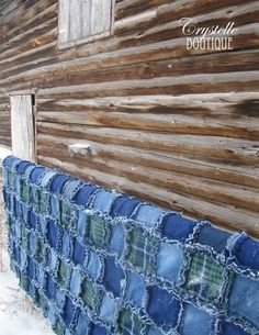 Crystelle Boutique   jeans and fleece rag quilt