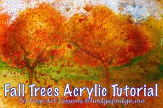 Fall Trees - Acrylic Art Lesson at Hodgepodge