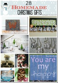 28 Homemade Christmas Gifts that you can make yourself!  #Christmas #DIY