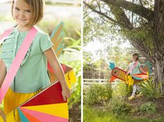 Duct Tape Bird Costume from Mer's book PLAYFUL: Fun Projects to Make With + For Kids