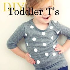 15 DIY Toddler Shirts for Spring #sewing #refashioning #kids From Spoonful.