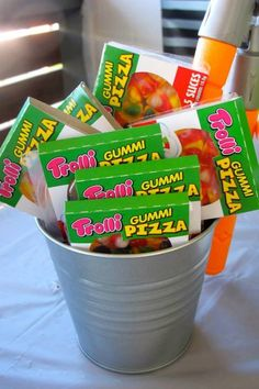 Teenage Mutant Ninja Turtles themed birthday party. Pizza Time!