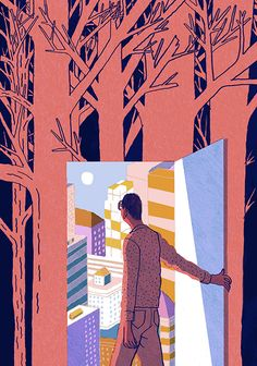 art inspir, contemporari illustr, forest josh, josh cochran, plansponsor magazin, design
