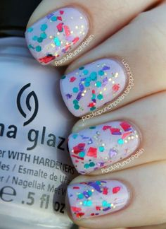 Confetti #nails