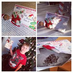 300+ Elf on the Shelf Photos  This is how our elf, Buddy arrived this year!  This is year #3 for us!!!