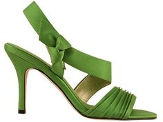 Lime green wedding shoe