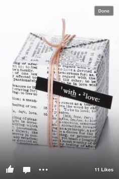 This is really creative and pretty. You can even use content heavy newspapers to wrap your gifts!