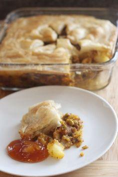 Potato & Pea Samosa Pie