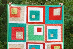 Off center patchwork quilt