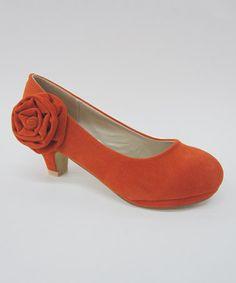 Look what I found on #zulily! Orange Finely Flower Pump #zulilyfinds
