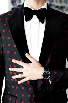 Dot Tux & Silk Bow Tie