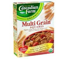 Start Tomorrow Off Right With One of These Under 200-Calorie Cereals. Cascadian Farm Organic Multi Grain Squares: 3/4 cup = 110 cals. #SelfMagazine