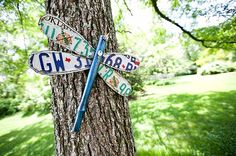 Repurpose old license plates, a chair leg and some old keys into funky DIY garden art for your backyard.