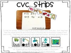 CVC WRITING STRIPS - TeachersPayTeachers.com