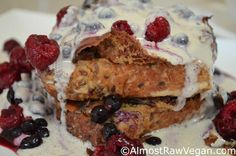 Crazy Sexy Kitchen's French Toast with Amaretto Creme #vegan #glutenfree #recipes #kriscarr #CrazySexyKitchen #breakfast