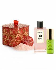 THE HARD WORKER - Agraria bath salts, Jo Malone bath oil, Tata Harper Aromatic Stress Treatment.
