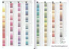 Gallery.ru / Фото #175 - Rico 122, 123, 124, 125, 126, 127 - Fleur55555; Anchor to DMC conversion chart; this is so sweet!