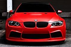MATTE RED BMW M3
