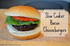If you love the taste of burgers on the grill but don't feel like starting the grill up, try making these 6-Ingredient Bacon Cheeseburgers right in your slow cooker.