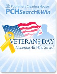 To all the Veteran's and their families from PCH via PCH Super Fan #1 That's Me (Smiles)