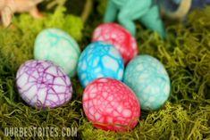 """""""dinosaur"""" egg - maybe deviled snake or dragon eggs"""