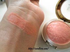 coral blush makeup, rose doro, milani baked blush, bake blush, studio blush