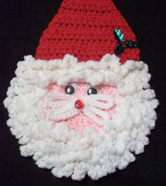 Free Crochet Pattern - Santa Pin from the Jewelry Free