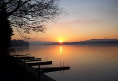 sunrise at Fourth Lake in Inlet, NY