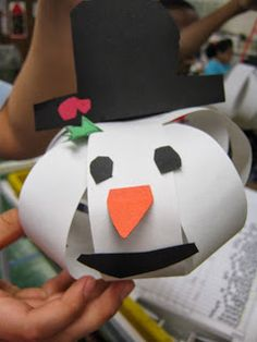 Tales from the Traveling Art Teacher!: 3D Snowmen Heads!