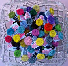 Felt Rosette Snap Clips Hair Clips for Baby by extrafrostingplease, $17.50
