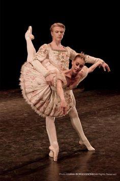 Anna Osadcenko and Marijn Rademaker in the Sleeping Beauty pas de deux  - Ballet, балет, Ballerina, Балерина, Dancer, Danse, Танцуйте, Dancing