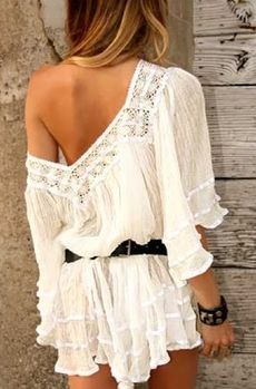 boho style fashion chic wedding dress bohemian gypsy hippie vintage lace romper jumpsuit summer outfit 2014 tunic dress gauze jen's pirate booty free people urban outfitter nasty gal shop tobi