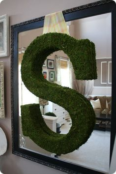DIY Moss Letter Tutorial - very simple