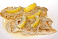 If chicken's more your thing, give this quick-and-dirty recipe a try—perfect for a last-minute throw-together, since you probably already have all the ingredients in your kitchen already.YOU'LL NEED… 2 boneless, skinless chicken breasts 1 tablespoon unsalted butter 1 tablespoon olive oil 1/4 cup flour 1/2 teaspoon kosher salt 1/8 teaspoon ground pepper 2 tablespoons dry white wine, chicken broth, or water 4 thin fresh lemon slices 1-1/2 tablespoons lemon juice 1-1/2 tablespoons chopped ...