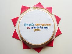 Smile someone is watching you #etsy