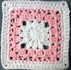 Julias's flower, 6-inch granny square #crochet #granny_square #flower