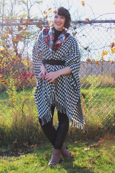 Layers, upon fabulous layers! #houndstooth #plaid