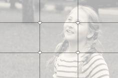 Colocação da pessoa a fotografar- no centro das linha guias. Em: http://blog.melissaanddoug.com/2014/02/06/family-photo-tips/