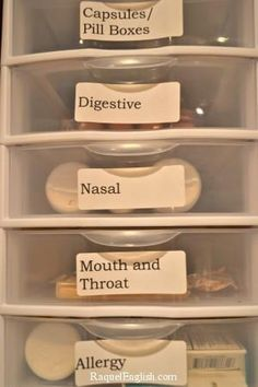 Organizing & labeling different types of medication/first aid products makes it easier to find, especially in the middle of the night | #organization #firstaid #preparedness