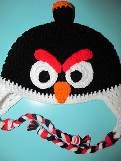 Angry Birds Crochet Hat Tutorial @Molly Kingston (also other tutorials)