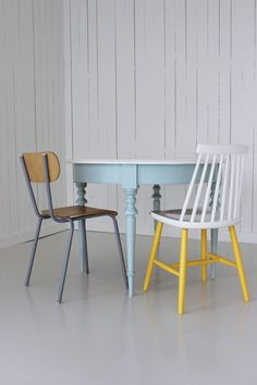 painted table and chair
