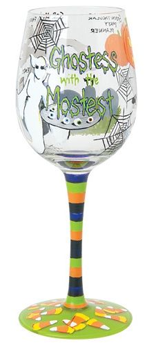 Lolita Ghostess with Mostess Halloween Wine Glass now in stock at Ooh La La in Grapevine. Hurry in these sell out quickly!!