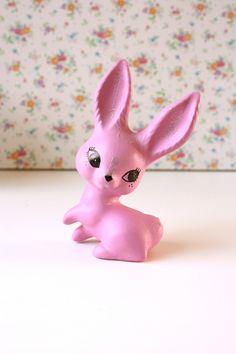 Adorable Pink Vintage Bunny