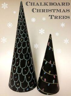 Tutus and Tea Parties: Chalkboard Christmas Tree Tutorial