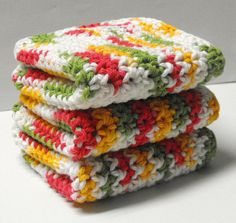 Mango Madness Cotton Dishcloths or Cotton by hdawnparratt on Etsy, $11.75