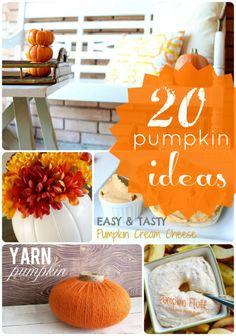 20 DIY Pumpkin Ideas at Tatertots and Jello #DIY #Fall #Halloween