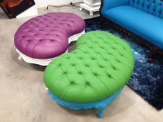 Awesome ottomans by Polart! #hpmkt