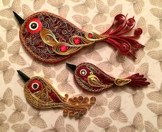 Quilled Birds by all things paper, via Flickr
