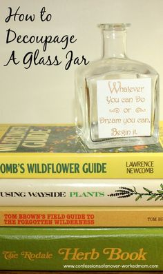 How to decoupage a glass jar #TBCcrafters