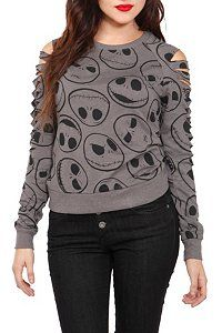 The Nightmare Before Christmas Jack Heads Pullover Top Plus Size